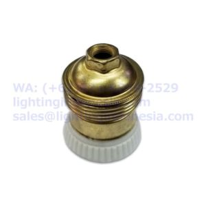 Fitting Edison E27 Brass Kuningan dengan Keramik