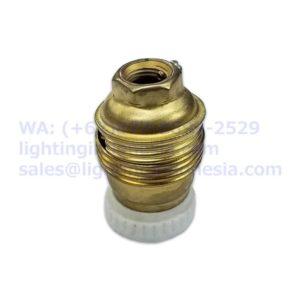 Fitting Edison E14 Brass Kuningan dengan Keramik
