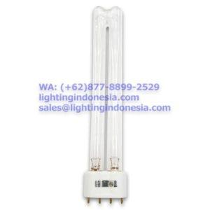 Bentuk: Lurus (2 tabung lampu) Ultraviolet Output: 8.5W Kaki/Fitting: 2G11 (4 Pin)